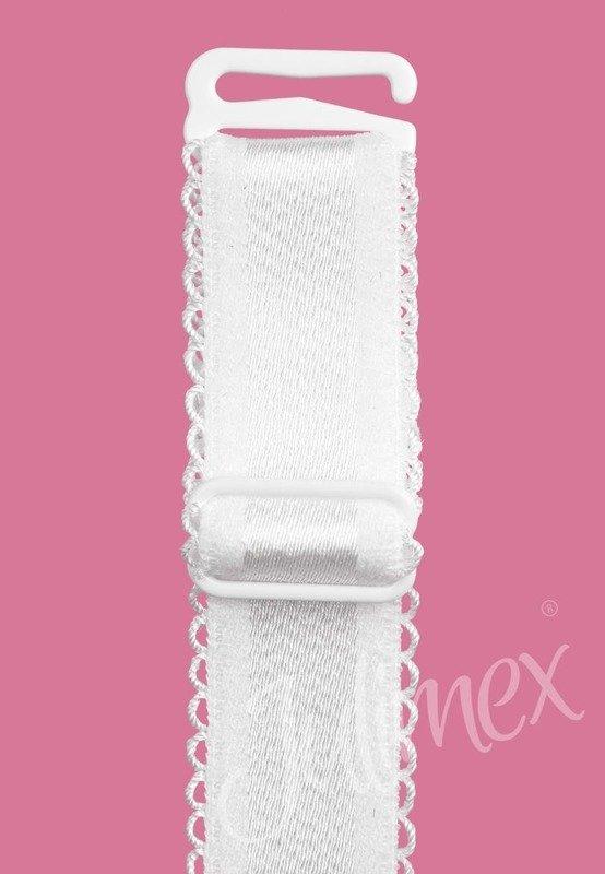 Ramiączka materiałowe Julimex białe 16mm