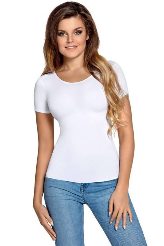Koszulka damska z krótkim rękawem Carla Babell biała