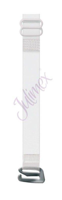 Ramiączka silikonowe metalowe zapięcie 10 mm srebrne